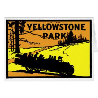 Parque 1920 de Yellowstone Tarjeta De Felicitación