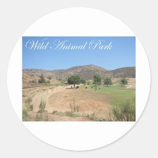 Parque animal salvaje pegatina redonda