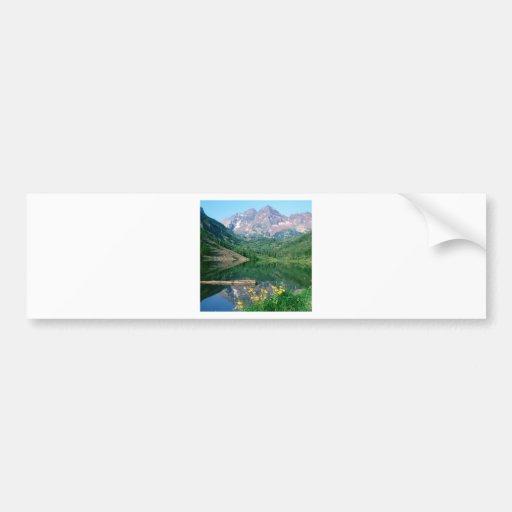 Parque Belces marrón el río Blanco Colorado Etiqueta De Parachoque