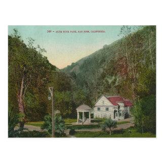 Parque California de la roca del alumbre del vinta Tarjeta Postal