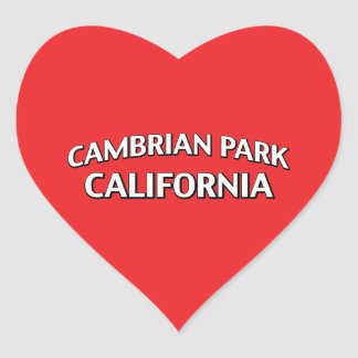 Parque cambriano California Pegatina En Forma De Corazón