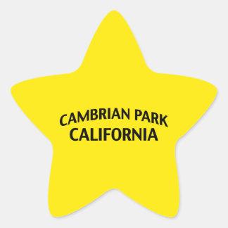 Parque cambriano California Pegatina En Forma De Estrella