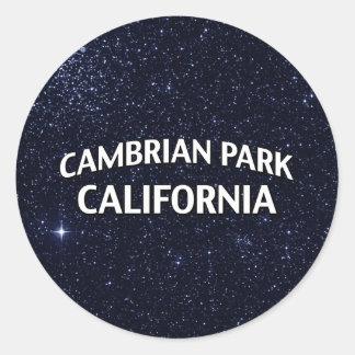 Parque cambriano California Pegatina Redonda