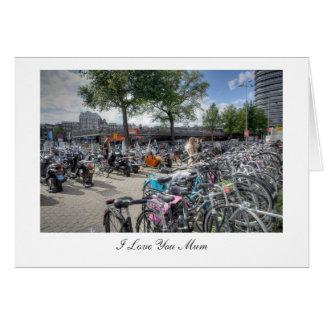 Parque central de la bicicleta de la estación - te tarjeta de felicitación