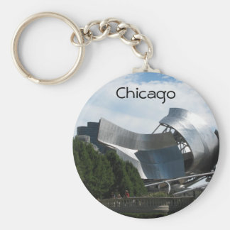 Parque Chicago del milenio Llavero Redondo Tipo Pin