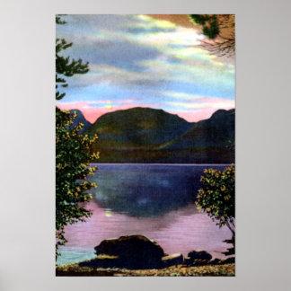 Parque Colorado Mt Baldy y lago magnífico de Este Poster