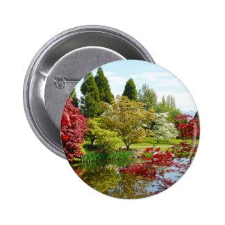 Parque colorido del jardín botánico pin