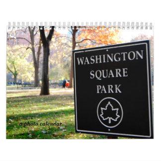 Parque cuadrado de Washington Calendario De Pared
