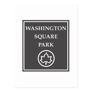 Parque cuadrado de Washington, parque de New York Postal
