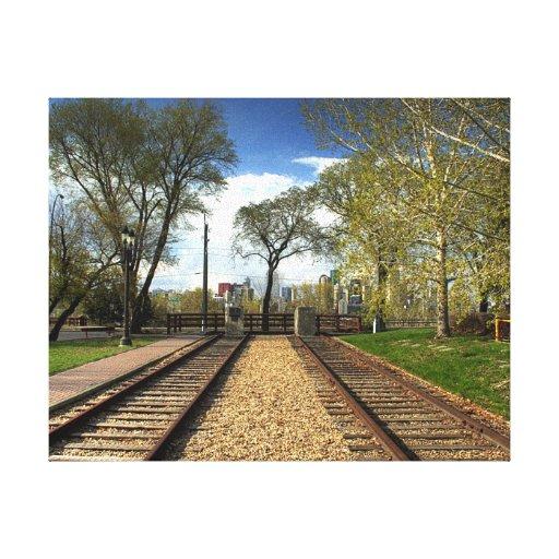 Parque de acero ferroviario impresiones de lienzo
