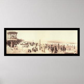 Parque de Asbury, foto 1902 de NJ Póster