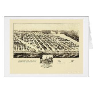 Parque de Asbury, mapa panorámico de NJ - 1897 Felicitaciones