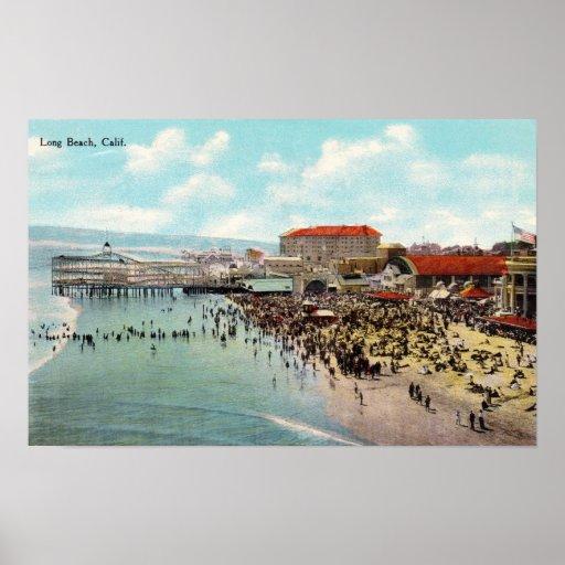 Parque de atracciones 1911 de Long Beach Californi Poster