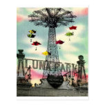 Parque de atracciones de Coney Island Luna Park Tarjeta Postal