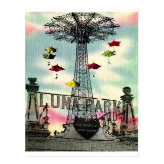 Parque de atracciones de Coney Island Luna Park Postal