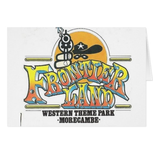 Parque de atracciones de Frontierland Morecambe In Tarjetón