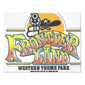 """Parque de atracciones de Frontierland Morecambe Invitación 4.25"""" X 5.5"""""""