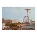 Parque de atracciones de la carrera de obstáculos, tarjetas postales