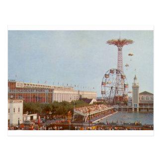 Parque de atracciones de la carrera de obstáculos, postal