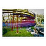 parque de atracciones de la montaña rusa tarjetas postales