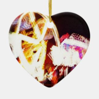 Parque de atracciones adorno de cerámica en forma de corazón