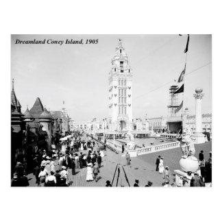 Parque de atracciones del Dreamland, Coney Island Tarjetas Postales
