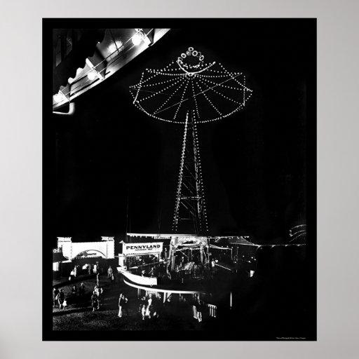 Parque de atracciones del eco de la cañada 1922 poster