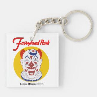 Parque de atracciones del Fairyland, Lyon, Llavero Cuadrado Acrílico A Doble Cara