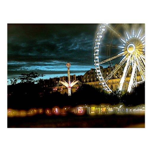parque de atracciones tarjeta postal