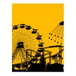 Parque de atracciones tarjetas postales