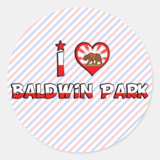 Parque de Baldwin, CA Pegatina Redonda