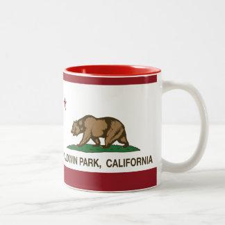 Parque de Baldwin de la bandera del estado de Cali Tazas De Café