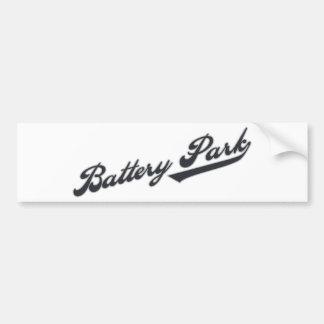 Parque de batería pegatina para auto