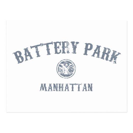 Parque de batería tarjeta postal