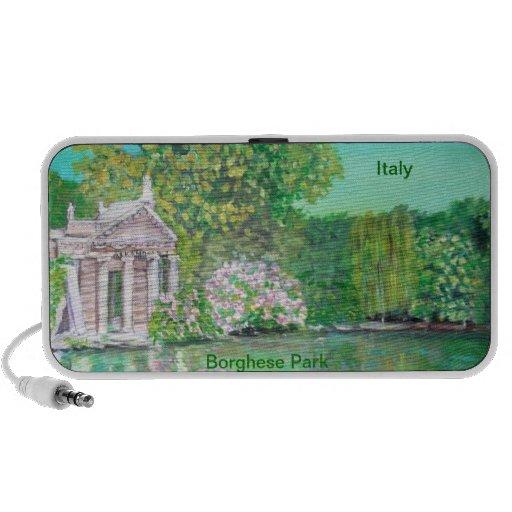 Parque de Borghese, Doodle de Roma Altavoz De Viajar