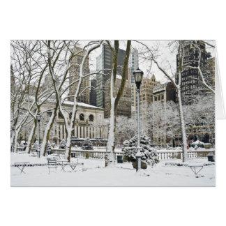 Parque de Bryant del invierno Tarjeta De Felicitación