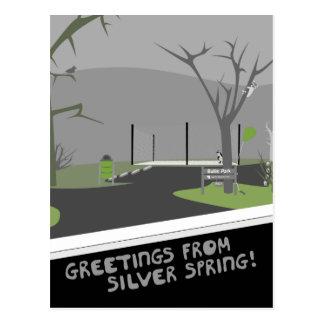 ¡Parque de Bullis - saludos de Silver Spring! Postal