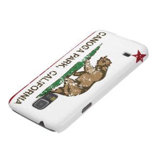 Parque de Canoga de la bandera de la república de  Fundas De Galaxy S5