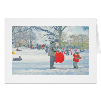 Parque de Carl Schurz tarjeta de Navidad de New Y