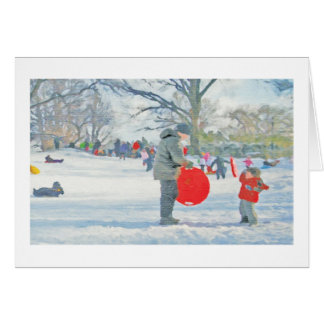 Parque de Carl Schurz tarjeta del día de fiesta d