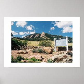 Parque de Chautauqua, Boulder, Colorado Póster