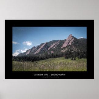 Parque de Chautauqua - Boulder, Colorado Póster