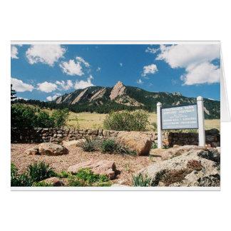 Parque de Chautauqua, Boulder, Colorado Tarjeta De Felicitación