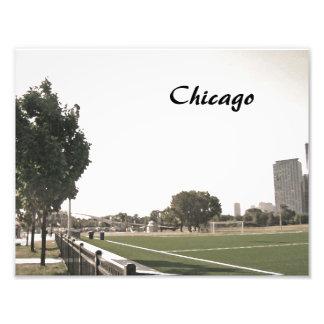 Parque de Chicago en tonos de la sepia Fotografía