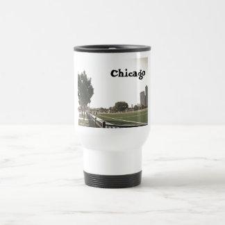 Parque de Chicago en tonos de la sepia Taza De Viaje De Acero Inoxidable