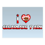 Parque de Clearlake, CA Tarjeta Postal