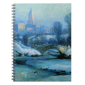 Parque de Cnetral en invierno Spiral Notebook