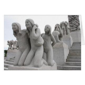 Parque de escultura de Vigeland I Tarjeta De Felicitación