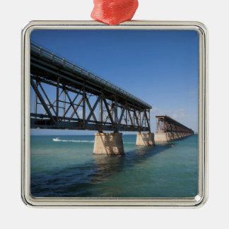 Parque de estado de Bahía Honda, llaves de la Adorno Navideño Cuadrado De Metal