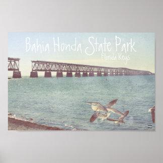 Parque de estado de Bahía Honda Póster